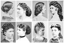 Victorian era hairstyles / In 1800- 1880 a women's hair was often thought to be one of her most valuable assets.  Hair was extremely long. Hair cut weren't exactly a thing yet for women occasionally trim split ends, or even singe them, but long hair was viewed as being ultra-feminine and desirable. Long hair styled in an updo was the way most women, especially upper class women,wore their hair during the 19th century.To create elaborate look, women would use false pieces, usually made of human hair.