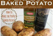 Baked potato in oven