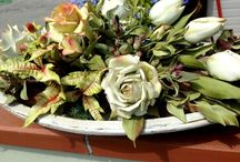 flowers / composition of flowers -cold porcelain-