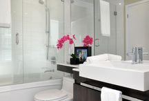 Splashy Bathrooms / Designs for the bathroom .  Clients and Inspirational spaces