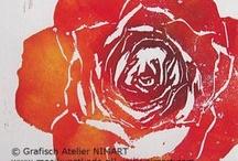 kunst kaarten   art cards / Leuke en mooie kunst en wens kaarten gedrukt naar eigen werk etsen en tekeningen van Nicole Henderiks
