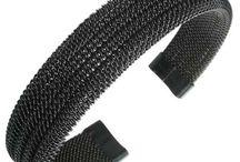 Men's bracelets / A series of stainless steel bracelets for men.
