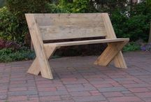 wooden benches and Chairs