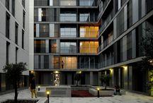 Blauw - omgeving van het gebouw / Blauwe doelgroep - alles buiten de woning, binnenhoven, straat, openbare ruimte