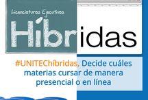 Campus Híbrido UNITEC / Nuevas licenciaturas de la UNITEC, en las que puedes combinar cursos presenciales y en línea para hacer una carrera.