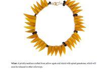 as seen in! / press for Katie Bartels gemstone jewelry