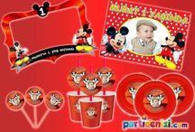 Mickey Mouse Doğum Günü / Mickey Mouse Kişiye Özel Parti Malzemeleri