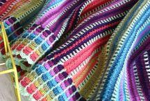 skittles crochet blanket