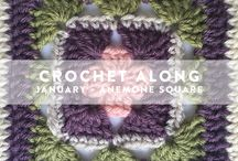 Crochet Along / Join us as we host a crochet along! Each month in 2016, we'll give you a free granny square pattern. At the end of the year we will put it all together to make a beautiful floral inspired granny square blanket. Get all the details at http://www.cu-rio.net
