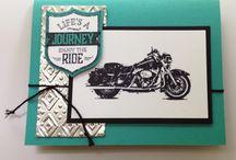 Karten - One Wild Ride - Stampin' Up / Motorrad