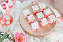 Seating and Names / wedding flower and decor inspiration for your SEATING CHARTS and PLACE CARDS