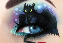 Maquillage, costume et Halloween