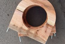 Wooden Block & Ubolt Supporting Pipe