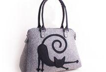 Felt bags by Volaris / Felt bags Felt purse Shoulder bags Messenger bags Women's purses Handbag Crossbody bag Medium bag Handmade bags Ladies bags