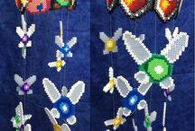 Colgantes hama beads