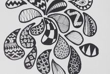 Never stop drawing / Pattern, tribal, and typography