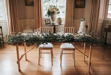 Botanical wedding inspiration / A styled bridal photoshoot with a botanical theme - foliage takes centre stage, with minimalist but tasteful table decorations