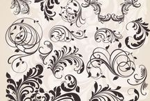 swirls & flourishes & designs / by Renee Sargent