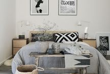 Rustic Black and White Rooms