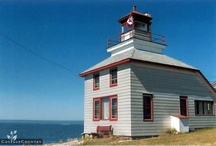 1907 McKay Island Lighthouse / Built in 1907 to serve the timber industry and today it is a housekeeping lighthouse accommodation in Bruce Mines Ontario