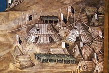 Medieval tents and flags (stany a vlajky)