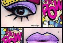 Макияж поп-арт