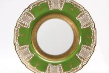 PORCELAIN: The Green Family / Dinner plates, sets, service, etc.