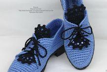 туфли вязаные