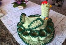 Galinha de Croche Porta Ovos you tube
