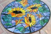 Mosaik / Mosaikarbeiten drinnen und draußen
