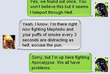 Hero & Villain texting