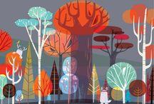 Illustration, trees
