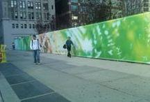 HÀNG RÀO DỰ ÁN / Hình anh các hàng rào dự án sử dụng khung sắt, căng hiflex quảng cáo nội dung dự án