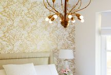 Bedroom: white and gold