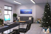 Office 3D design - Oficinas