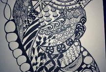 Doodling / doodling, drawing, zentangle