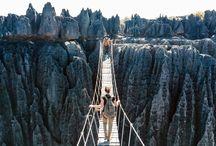 Tsingy lands de bemaraha Madagascar paysages Afrique / Tsingy lands de bemaraha Madagascar paysages Afrique
