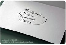 Kalligraphie / Lettering / Calligraphy and Lettering by SonjaK