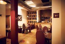 Restaurant / The design interior and the atmosphere of the restaurant Gli interni di design e l'atmosfera del locale
