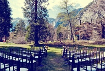 "Yosemite Weddings / Breathtaking wedding sites with Half Dome, Yosemite Falls, El Capitan, and Bridalveil Fall offer picture perfect backdrops to say ""I do"" in Yosemite National Park.   For an invitation to pin your Yosemite wedding, send a request via Pinterest or email yosecom@delwarenorth.com / by Delaware North at Yosemite"