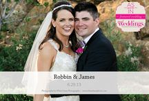 Featured Real Wedding: Robbin & James {from the Summer/Fall 2014 Issue of Real Weddings Magazine} / Robbin & James-Featured Real Wedding from the Summer/Fall 2014 issue of Real Weddings Magazine, www.realweddingsmag.com. Photos by and copyright  www.WhiteDaisyPhoto.com; Flowers: Ambience Floral Design, www.AmbienceFloral.com; Cake: Sweet Cakes by Rebecca, www.SweetCakes.biz; Specialty Lighting/Rentals: www.CelebrationsPartyRentals.com. See more here: http://www.realweddingsmag.com/featured-real-wedding-robbin-james-from-the-summerfall-2014-issue-of-real-weddings-magazine