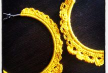 crochet earrings / handmade crochet earings