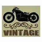 Vintage motor bike artwork