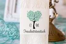 Für die Freudentränen / Individuelle Taschentuchbanderolen für Eure Hochzeit