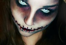 Make-up zombie halloween
