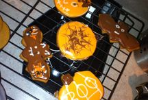 Cookies and cake / #cookies #fondant #royal icing #Halloween #homemade
