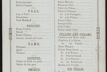 Bill of fare / Restaurant's menu