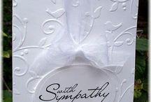 Handmade sympathy cards