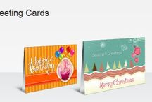 Greeting Cards / Greeting Cards are large, folded notecards with an area for a personalized message on the interior.