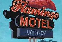 Pink Flamingo Hotel styling